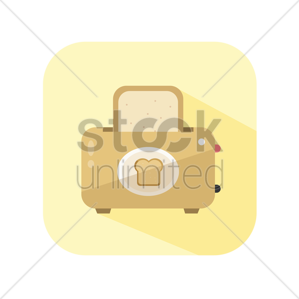 icon of a toaster vector graphic