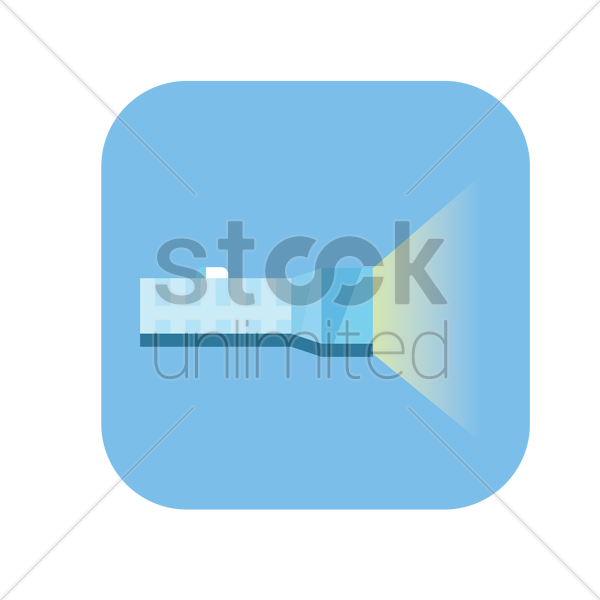 icon of a torchlight vector graphic