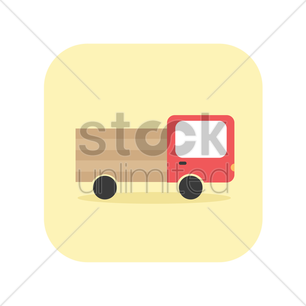 icon of a truck vector graphic