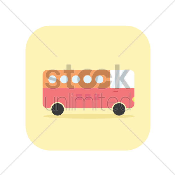 icon of a vintage bus vector graphic