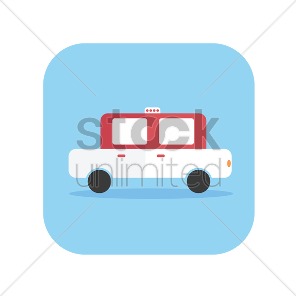 icon of a vintage taxi vector graphic
