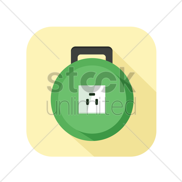 icon of an electrical cable extension reel vector graphic