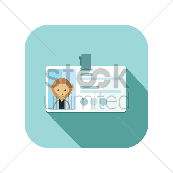 icon of an identity card vector graphic