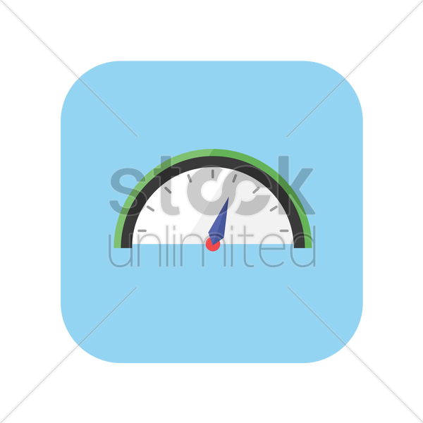 icon of an odometer vector graphic