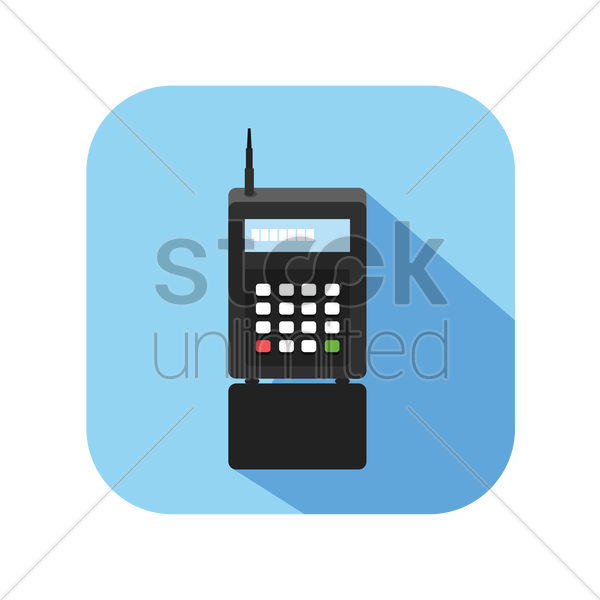 icon of an old cellphone vector graphic