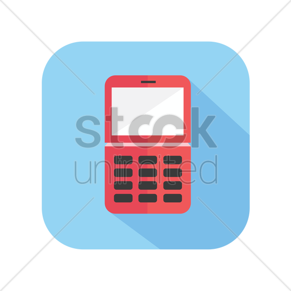 icon of cellphone vector graphic