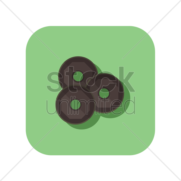 icon of dumbbell weight plates vector graphic