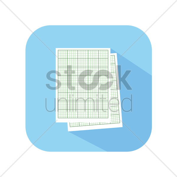icon of graph paper vector graphic