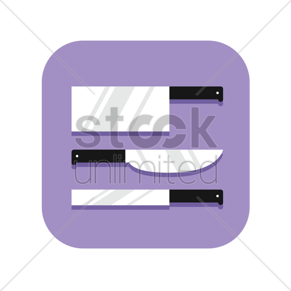 icon of kitchen knifes vector graphic