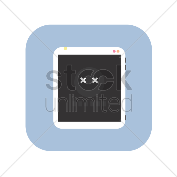 icon of pc tablet vector graphic