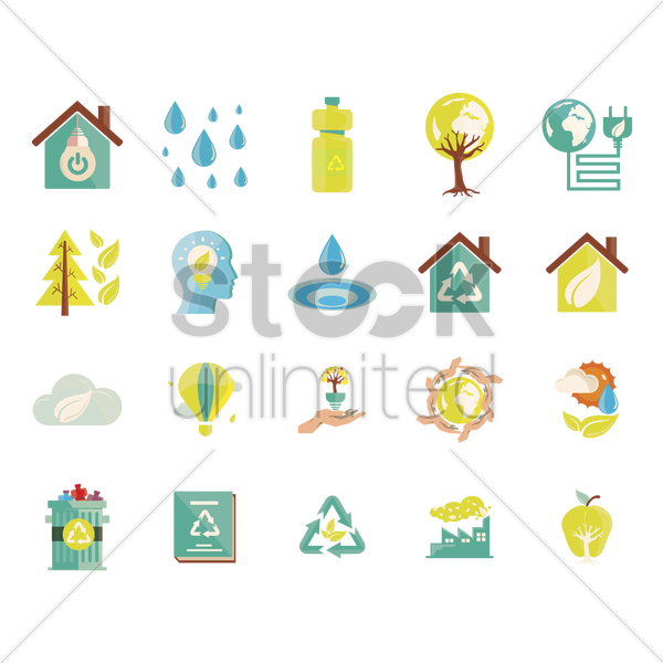 icons of environment vector graphic