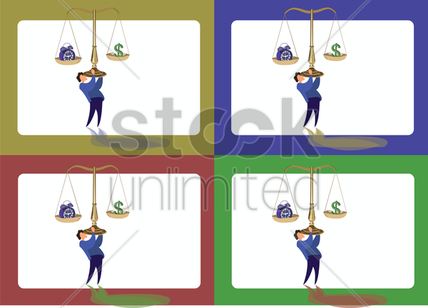 Free icons of man lifting a justice scale vector graphic