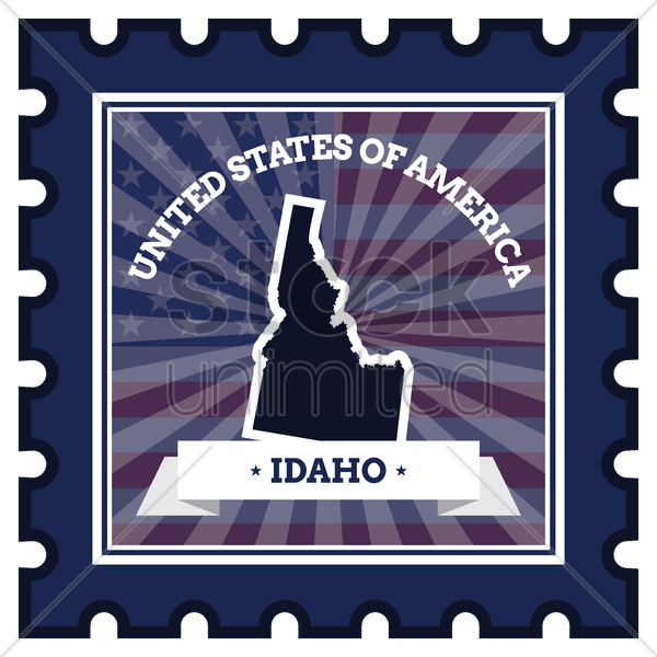 idaho postage stamp vector graphic