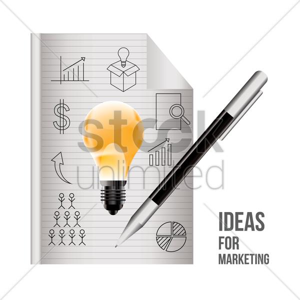 ideas for marketing vector graphic