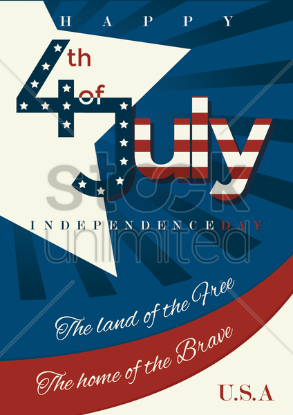 independence day wallpaper vector graphic