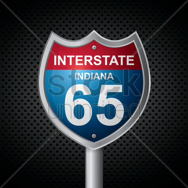 indiana 65 route sign vector graphic
