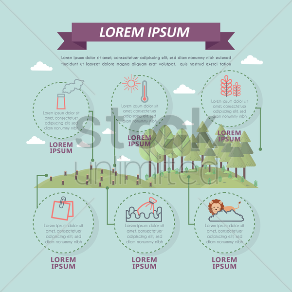 info graphic of environment vector graphic