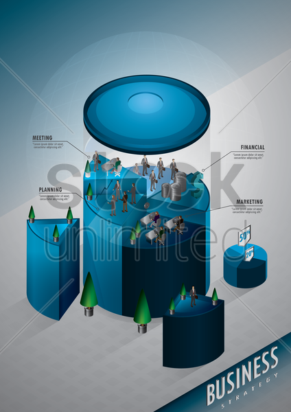 infographic business strategy vector graphic