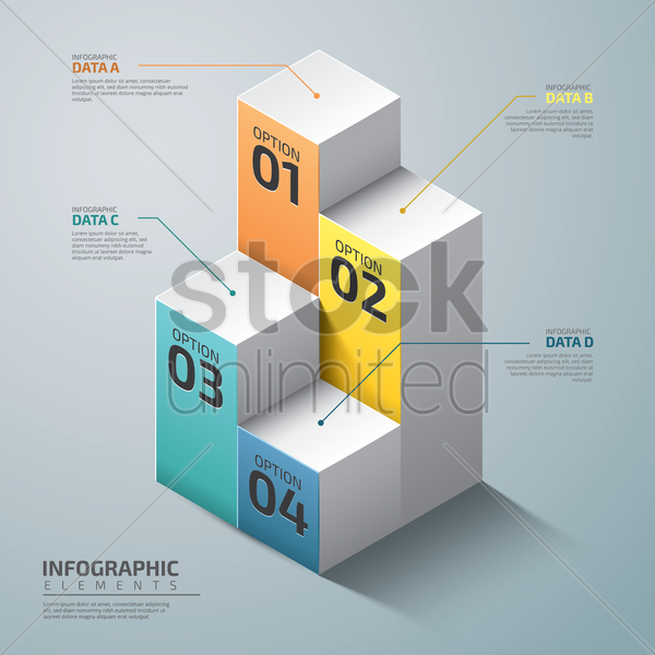 infographic design elements vector graphic