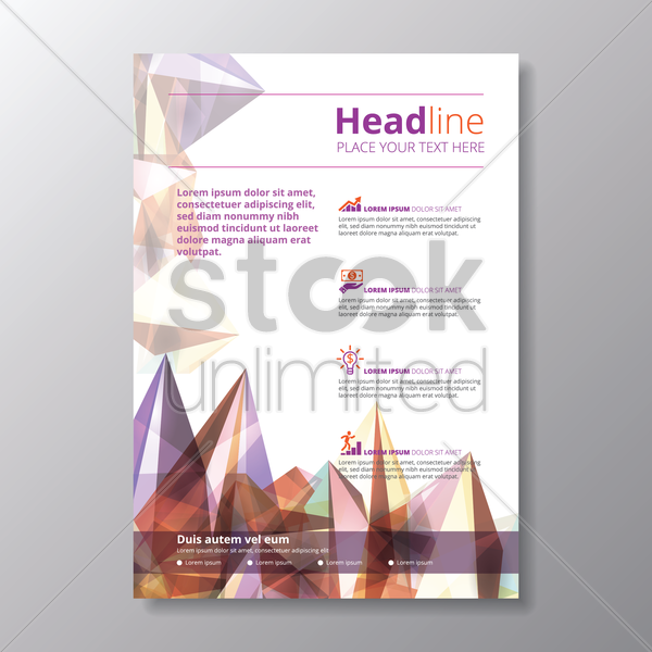 infographic headline poster vector graphic