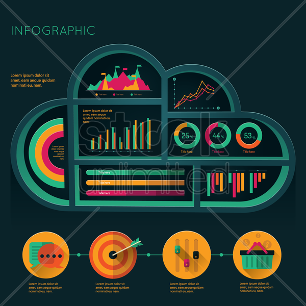 infographic layout design vector graphic