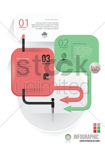 infographic of banking vector graphic