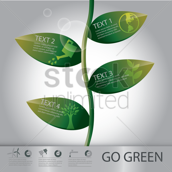 infographic of environment vector graphic