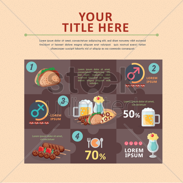 infographic of fast food vector graphic