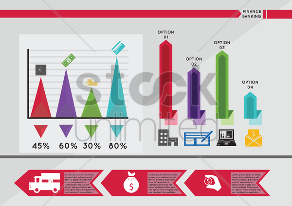 infographic of finance and banking vector graphic
