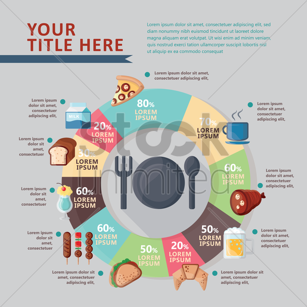 infographic of food and drinks vector graphic