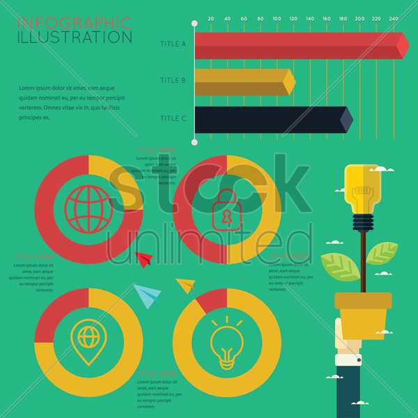 infographic of global business development concept vector graphic