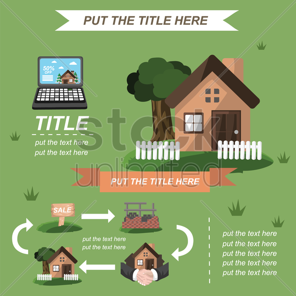 infographic of home investment vector graphic