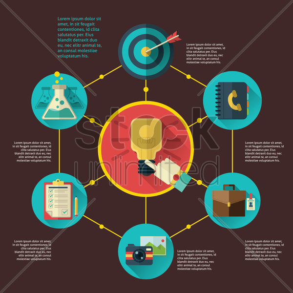 infographic of idea concept vector graphic