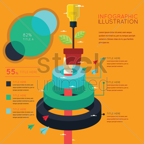 infographic of idea development concept vector graphic