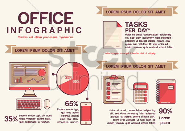 infographic of office vector graphic