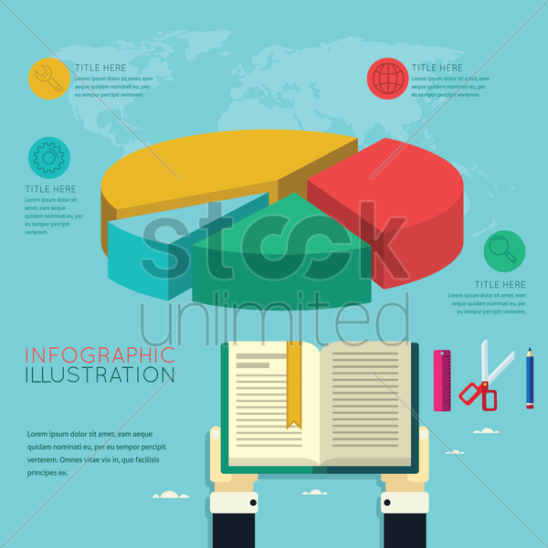 infographic of online education vector graphic