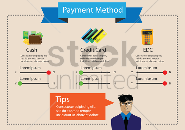 infographic of payment method vector graphic
