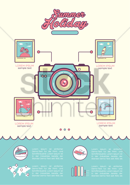 infographic of summer holiday vector graphic