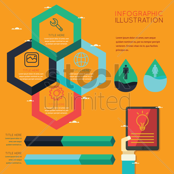 infographic of technology vector graphic