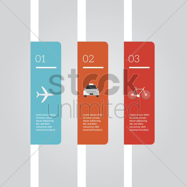 infographic of transportation vector graphic