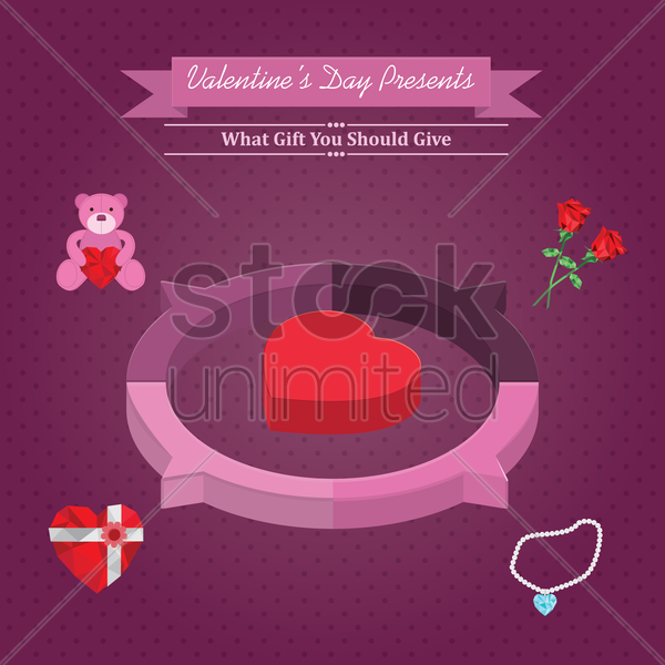 infographic of valentine's day presents vector graphic