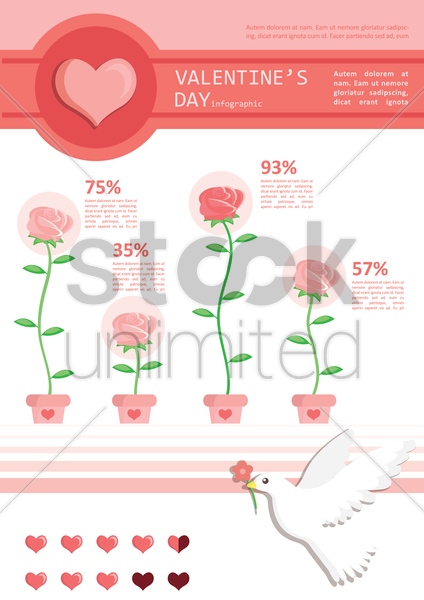 infographic of valentine's day vector graphic