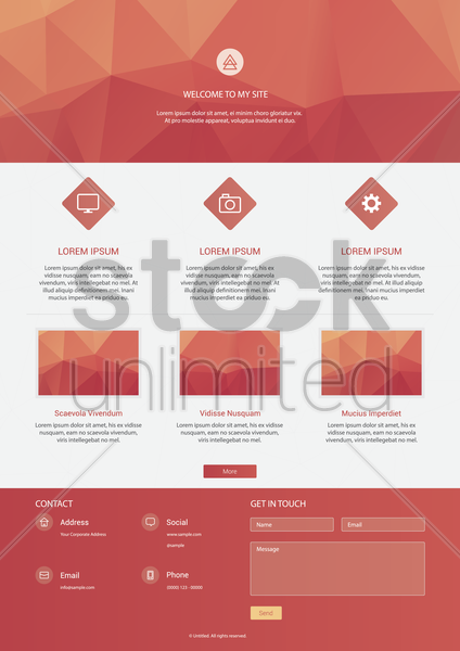 infographic of website vector graphic