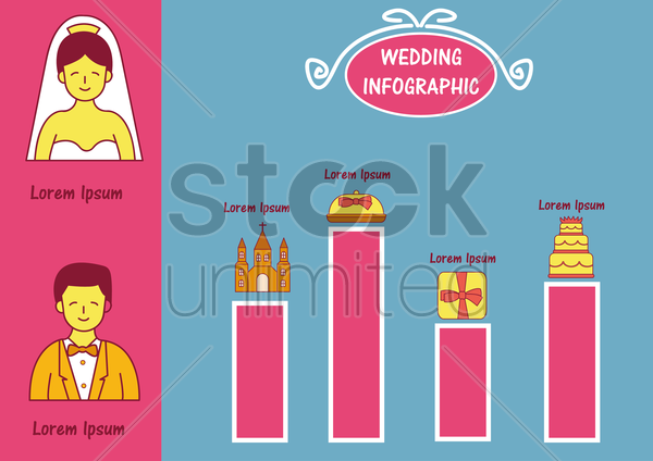 infographic of wedding vector graphic