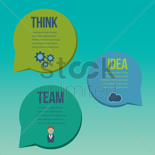 infographic presentation vector graphic