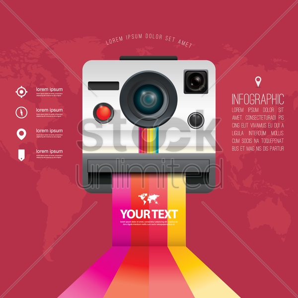 instant camera icon vector graphic