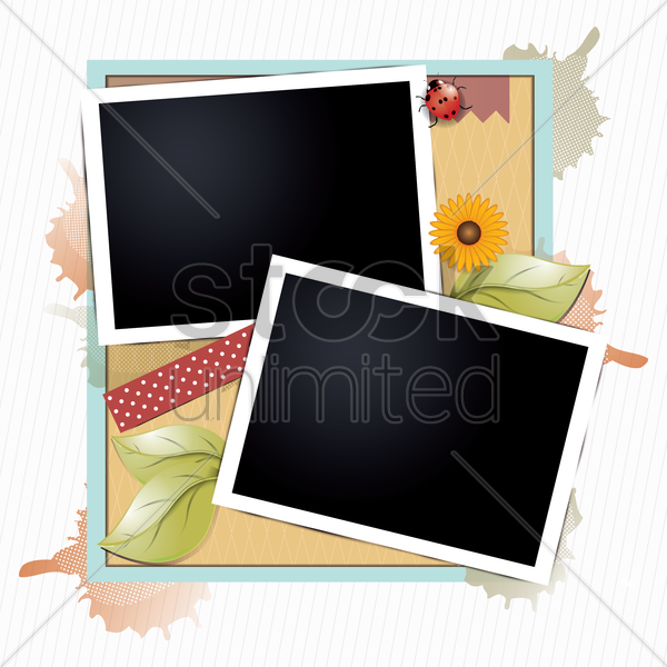 instant photo frame vector graphic