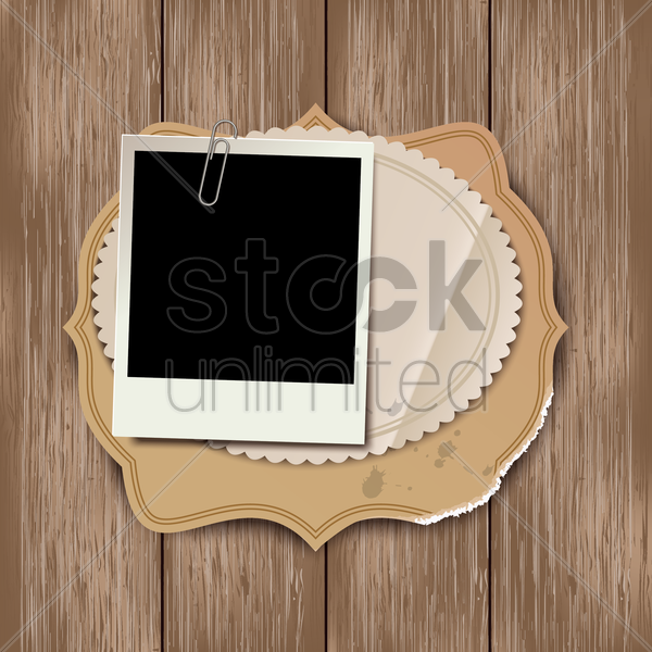instant photo vector graphic
