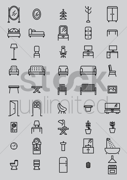 interior furniture vector graphic