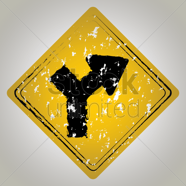 intersection within curve road sign vector graphic
